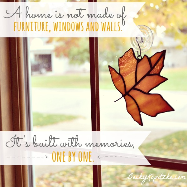 a home is not made of furniture but of memories