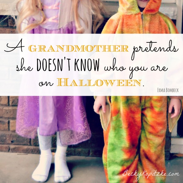 Grandmother Halloween Erma Bombeck quote