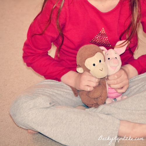 Cross-legged stuffed animals