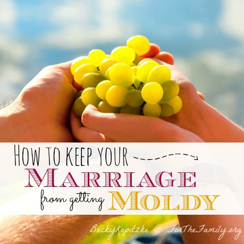 How to keep your marriage from getting moldy
