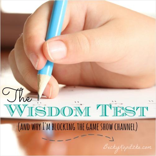 The Wisdom Test
