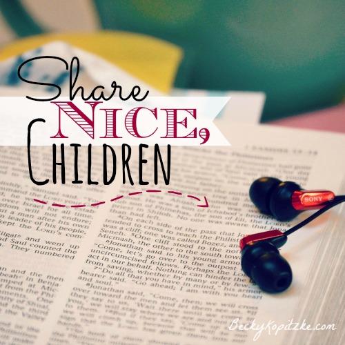 Share Nice, Children
