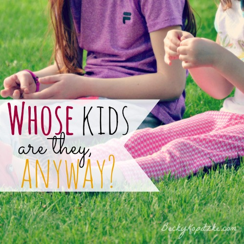 Whose kids are they, anyway?