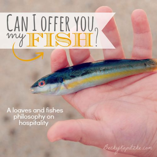 Can I offer you my fish