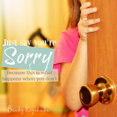 Just say you're sorry
