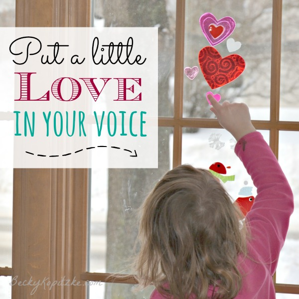 Put a little love in your voice