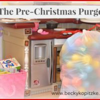 The Pre-Christmas Purge