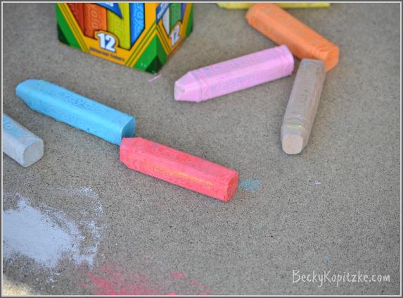 Sidewak Chalk on the porch