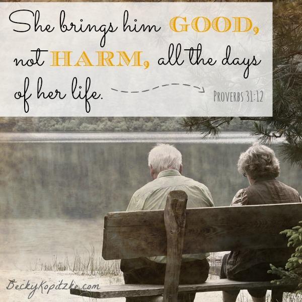 She brings him good, not harm