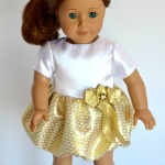Gold bubble dress for American Girl dolls