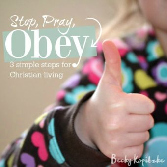 Stop Pray Obey