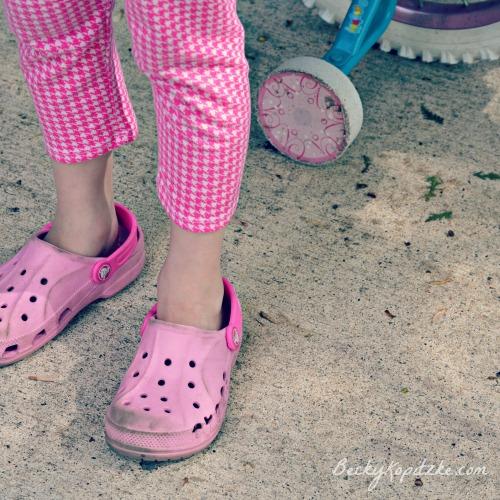 Crocs and training wheels