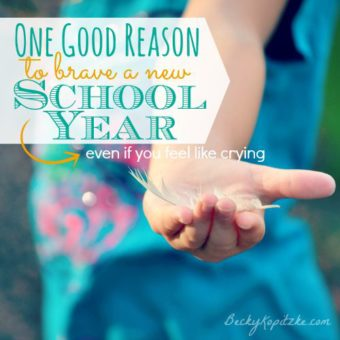 One good reason to brave a new school year