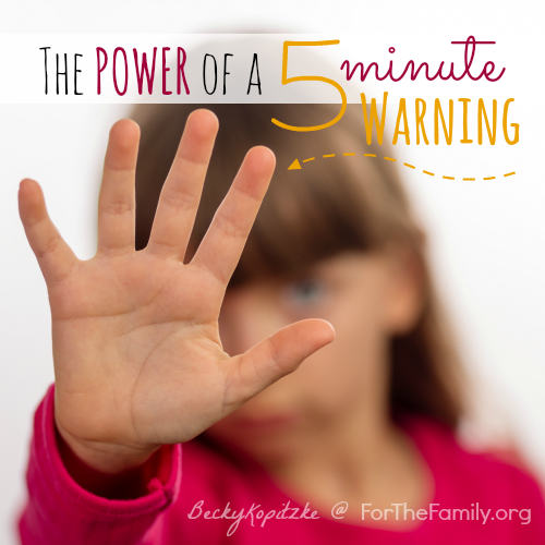 The Power of a 5-Minute Warning