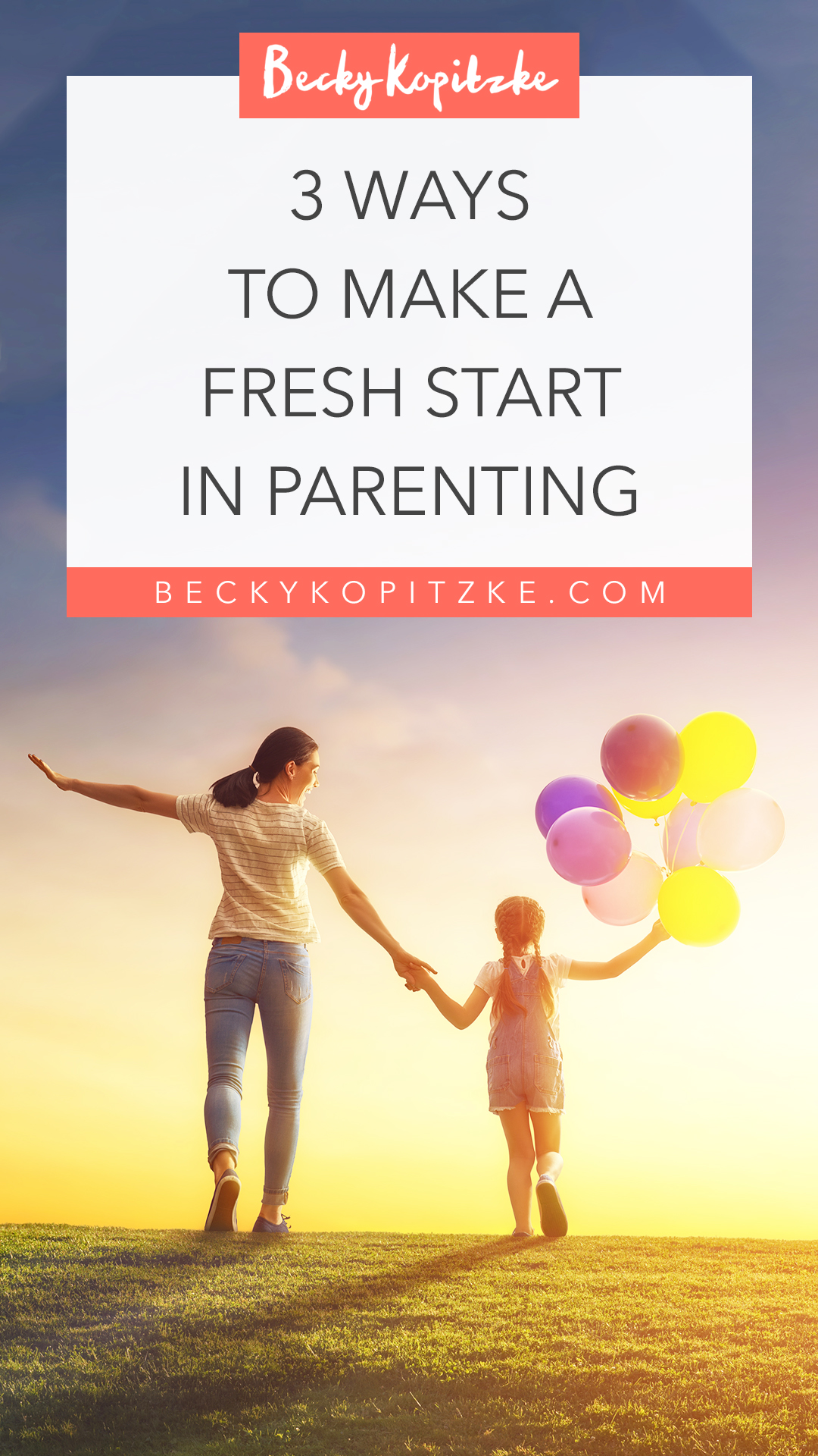 Some days we all need a do-over. And then there are those days when we feel like we need a do-over for the entire year. Here are three ways to make a fresh start in parenting. Encouragement for parents in all stages!